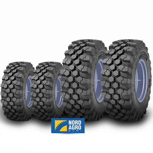 340/80R18 Michelin Bibload Hard Surface 143A8/143B  és 440/80R28 Michelin Bibload Hard Surface 163A8/163B  garnitúra